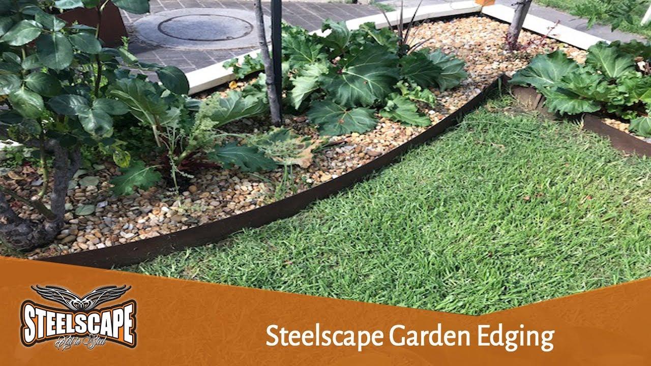Metal Garden Edging Corten Steel Youtube