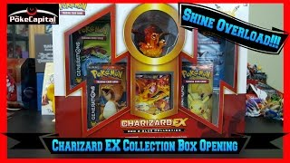 Pokemon Cards Charizard EX Red & Blue Collection Box Opening with 4 Generations Packs