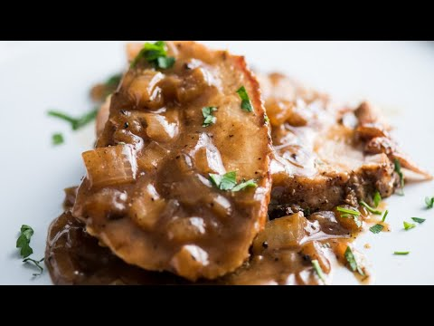 Roast Pork Loin with Onion Gravy