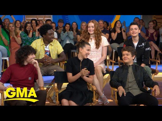 Cast of Stranger Things dishes on the new season live on GMA | GMA