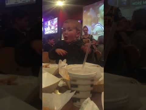 Funny baby at B-Dubbs