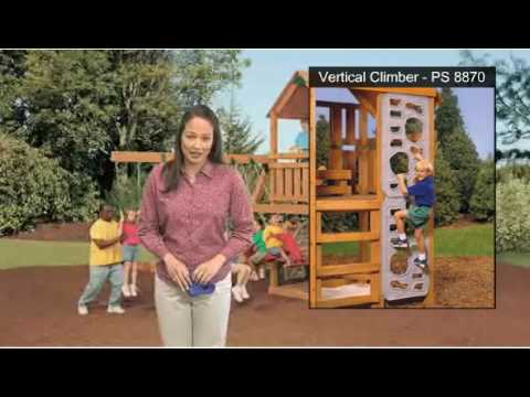 Climbing Walls and Climbing Rocks For Wooden Swing Sets