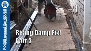 How to fix rising damp & penetrating damp - (PART 3). Channel drain / french drain installation.