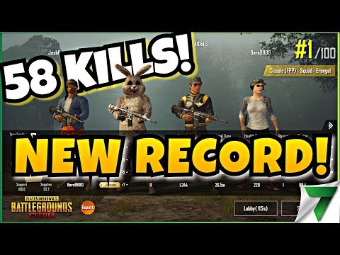 58 KILLS NEW WORLD RECORD!! SQUAD FPP RECORD!! | PUBG Mobile