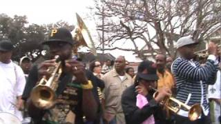 Rebirth Brass Band feat. snare drummer Derrick Tabb at Treme Sidewalk Steppers 2011 Parade