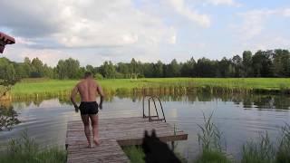 Swimmer was attacked by Jožyn from bažin