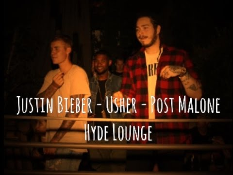4c7f301f4 Justin Bieber - Usher - Post Malone - Hyde Lounge - West Hollywood -  Video/Photo - September 5, 2016