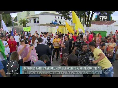 Veja como foi a espera por Lula na Polícia Federal de Curitiba | SBT Brasil (07/04/18)