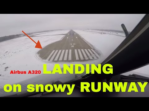 Airbus 320 Approach & Landing in Cold Weather at Moscow