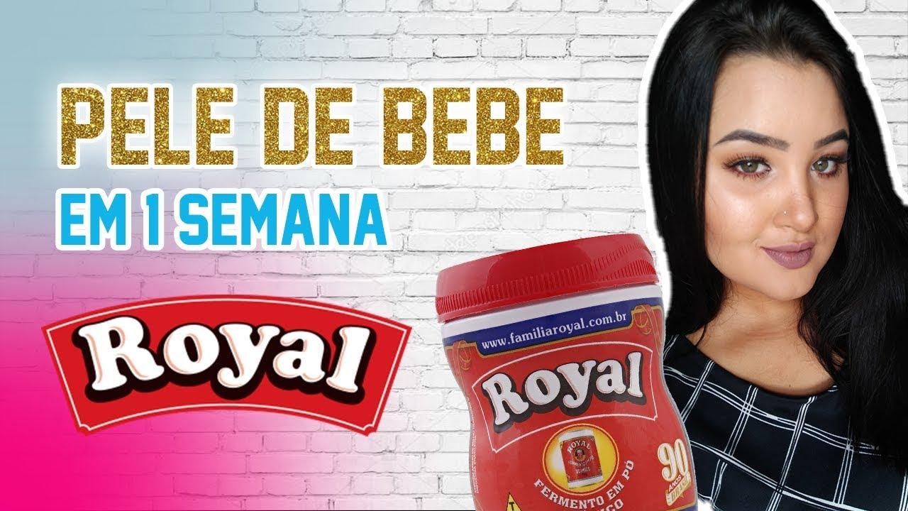Pele De Bebe Em 1 Semana Com A Mascara De Fermento Po Royal Youtube