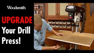 Upgrade Your Drill Press! - How To Build a Quick and Easy Drill Press Table! (FREE PLAN)
