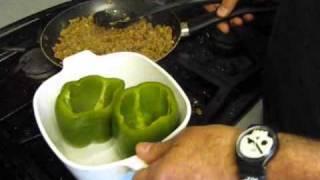 Stuffed Bell Peppers, Creamed Tators