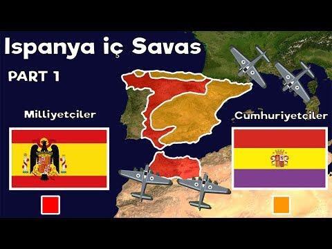 İspanya İç Savaş - Part 1 - Harita Üzerinde Hızlı Anlatım