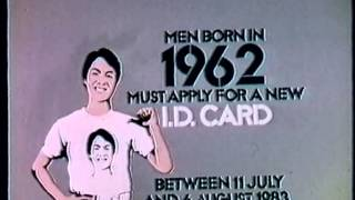 1983 - IMMD (Men born in 1962 must apply for a new ID card)