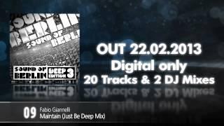 Sound of Berlin Deep Edition Vol.3