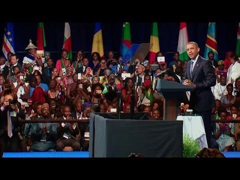 Le président Obama avec les jeunes leaders africains