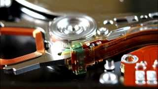 Inside of Laptop Hard Drive HDD. Slideshow