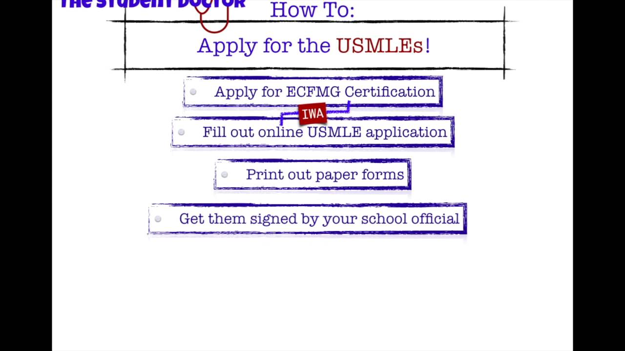 How to Apply for the USMLE, A Step by Step Guide (Part 2) - YouTube