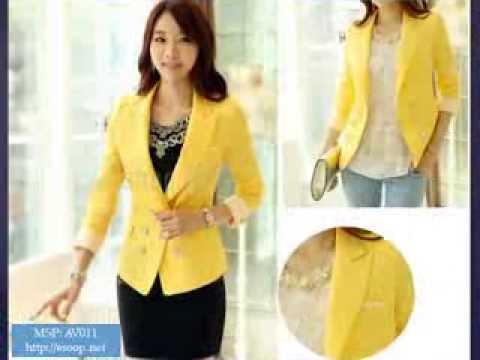 BST áo Vest, Blazer Nữ Hàn Quốc Thu Đông 2013