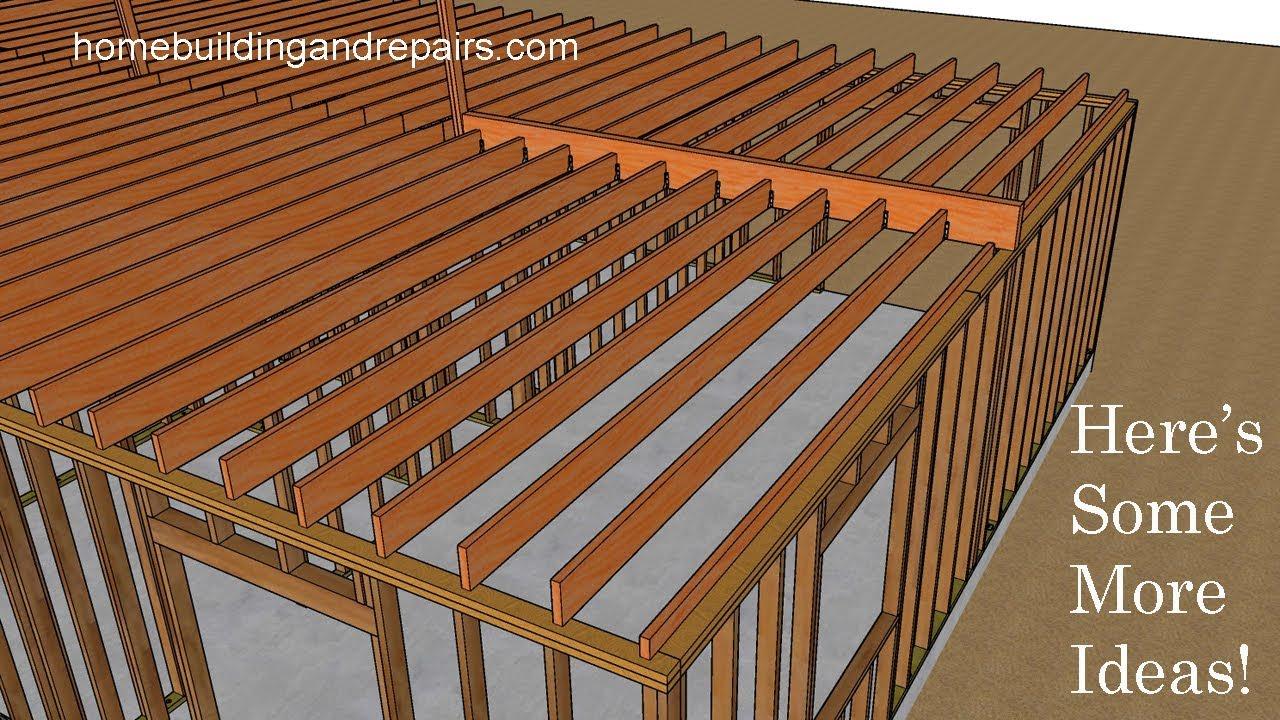 Ceiling Joist Framing Ideas For L Shaped Floor Plan Design New Home Construction