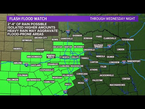 DFW Weather: Severe thunderstorm watch, flash flood watch