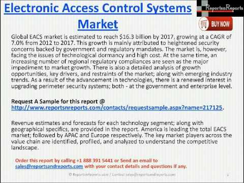 Electronic access control systems market worth