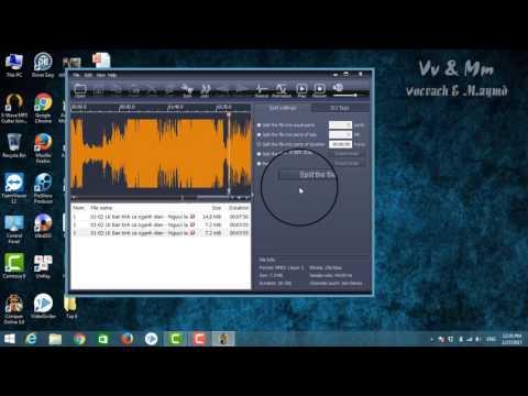 Hướng dẫn cắt file mp3, âm thanh audio nhanh và đơn giản với Vv & Mm