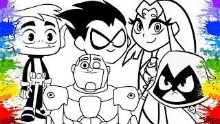 Colorindo Desenho Os Jovens Titãs em Ação para Crianças   Teen Titans Go Cartoon   Kids Cartoons