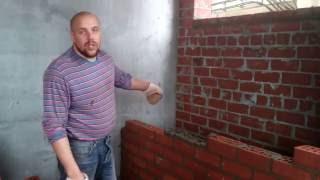 видео Кладка вертикальных поперечных стенок