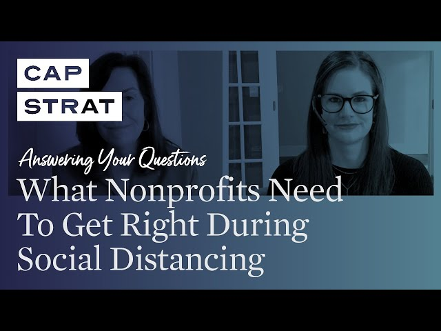 What Nonprofits Need To Get Right During Social Distancing