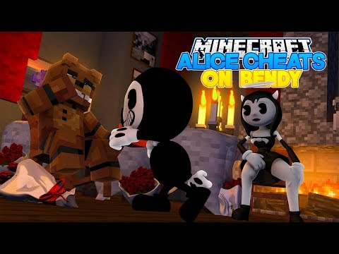 Minecraft BENDY AND THE INK MACHINE V'S ALICE ANGEL - ALICE CHEATS ON BENDY w/ FNAF FREDDY FAZBEAR!