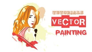 How To Draw vector painting - illustrator Tutorials