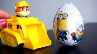 Щенячий Патруль. Видео с игрушками. Яйцо с сюрпризом Миньоны