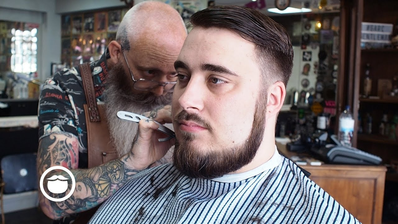 Low Cheek Line With A Full Thick Beard With A Haircut Youtube