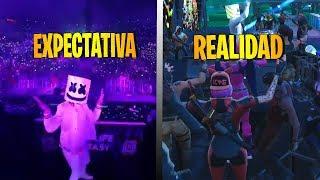 Marshmello Event EXPECTATION VS REALITY (Fortnite Battle Royale)