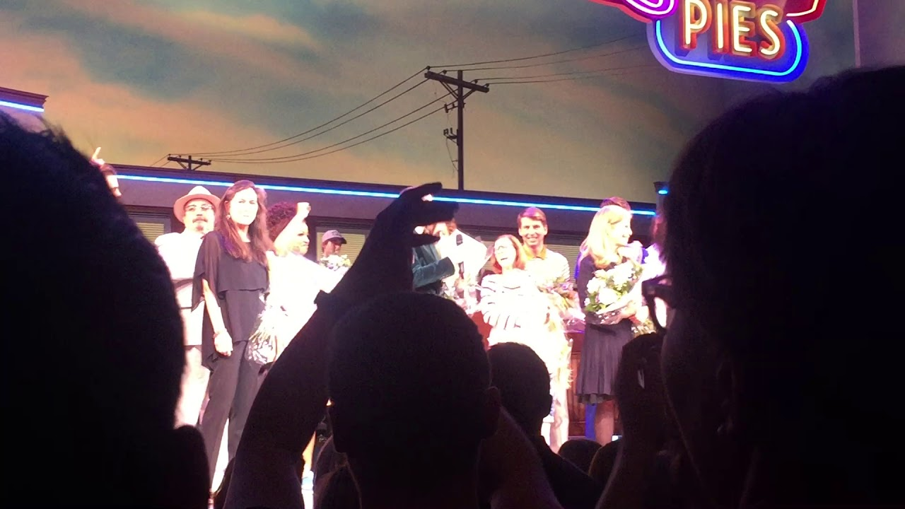 Curtain call for the opening night of West End's Waitress including a  speech from Sara Bareilles