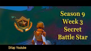 Fortnite - Secret Battle Star Season 9 Week 3 LOCATION Guide (JUNK JUNCTION location)
