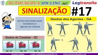 SINALIZAÇÃO - Semafórica, Gestual, Sonora, Disp. Auxiliares