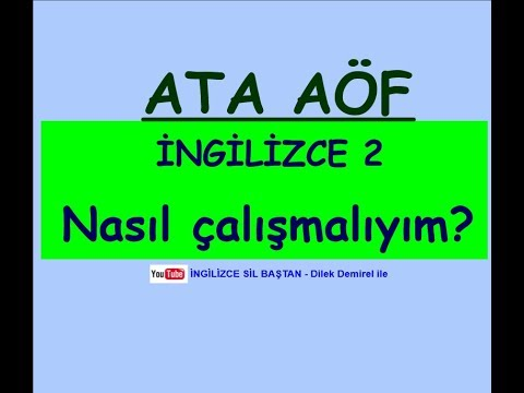 ATA AÖF İNGİLİZCE 2