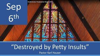 Sept 6 Worship Southminster Presbyterian Church St. Louis Live Stream