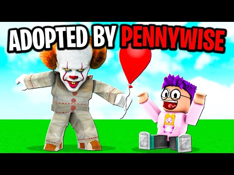 We Got Adopted By PENNYWISE In BROOKHAVEN RP! (Roblox ROLEPLAY!)