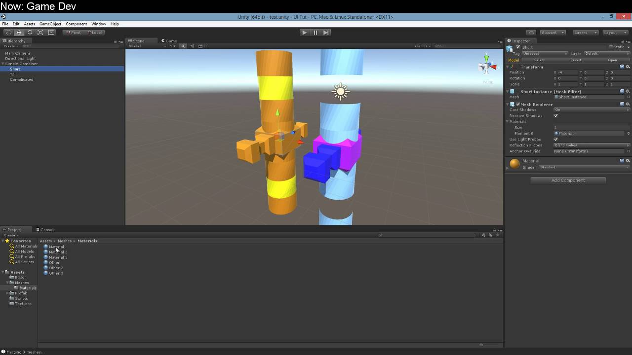 Merge Multi-Material Meshes in Unity