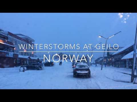 Winterstorms at Geilo, Norway