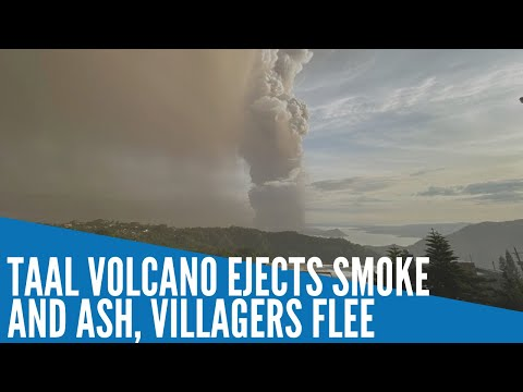 Taal volcano ejects