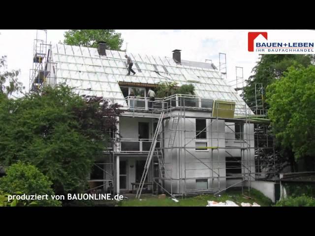 Ein neues gedämmtes Dach - Hausmodernisierung im Zeitraffer von Bauen+Leben.