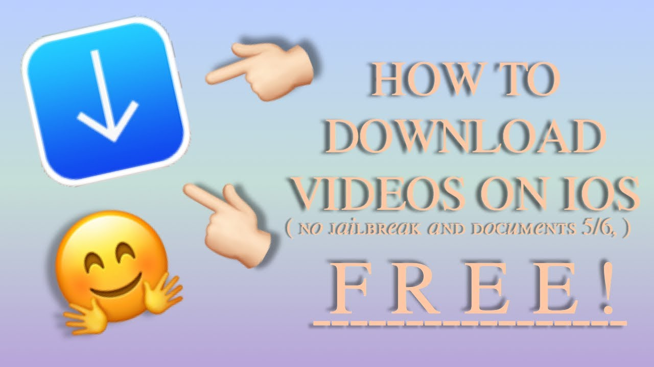 How to download videos on IOS ( without Documents 5 )