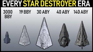 Every Era of Star Destroyer (Legends and Canon)