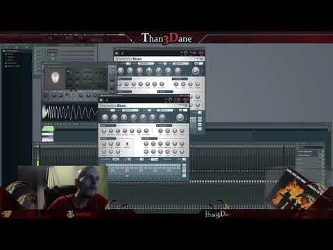 FL Studio 12: Simple Transistor Bass Sample @Than3Dane #Composing #Sound #Live