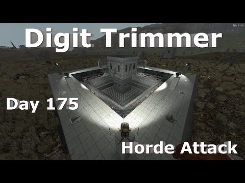 7 Days to Die - Alpha 16 - Electric Trap Base - Day 175 Horde Attack