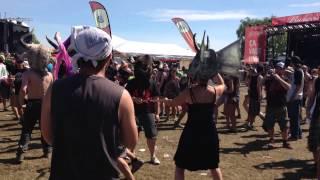 Flogging Molly Fans Limboing at Rockfest 2015